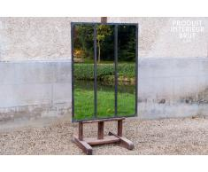 Miroir industriel à cadre métallique