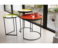 Table scandinave gigogne tricolore Kirk