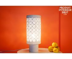 Lampe vintage en porcelaine Flowers