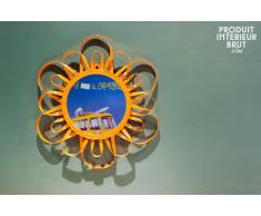 Miroir vintage Aurinko orange