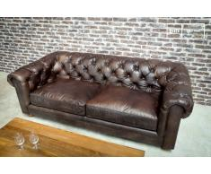 Canapé cuir Dark Chesterfield