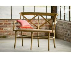 Banc en bois Pampelune finition naturelle