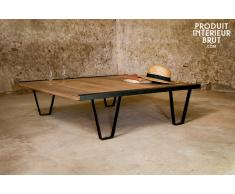 Table basse industrielle Bay Teck