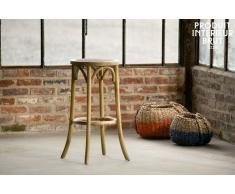 Tabouret de bar vintage Pampelune finition naturelle