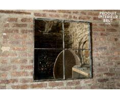 Miroir industriel carré 4 sections