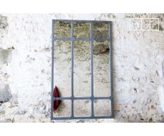 Miroir d'atelier XXL à cadre métallique