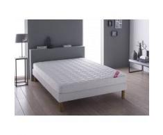 Relaxima Literie Grenelle technologie DUNLOPILLO (matelas + sommier + pieds) Taille 140 x 190 cm