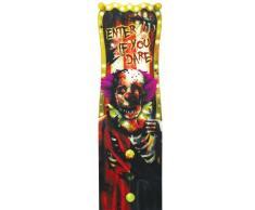 Décoration lenticulaire Clown d'Halloween Taille Unique