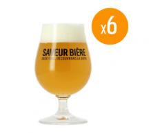 Pack de 6 Verres Saveur Bière - 25 cl