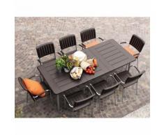 Table de jardin extensible en polypropylène et aluminium - Maestrale
