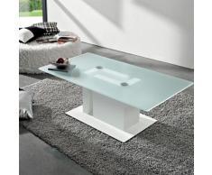 Table basse moderne en verre et mélaminé - Tania
