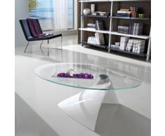 Table basse design ovale en verre - Pamela