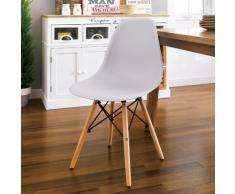 Chaise DSW WOODEN Design cuisine bar salle d'attente et bureau bois...