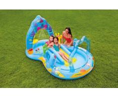 Piscine gonflable enfants Intex 57139 Mermaid Kingdom Play Center ...