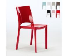 Chaise en polypropylène empilable cuisine café maison bar SUNSHINE ...