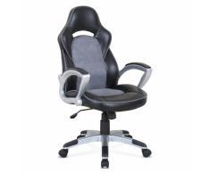 Chaise de bureau sportive fauteuil gamer ergonomique simili cuir EV...
