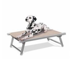 Lit pour chien aluminum niche animaux transat DOGGY