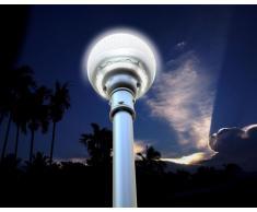 Lampe LED avec panneau solaire intégré pour les routes Avenues Garden