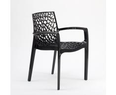 Chaise en polypropylène accoudoirs jardin cafè Grand Soleil GRUVYER...