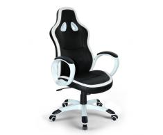 Chaise de bureau sportif fauteuil gamer ergonomique simili cuir SUP...