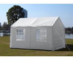 Pavillon 3x4 blanc gazebo tente imperméable fenetre carport couvert...