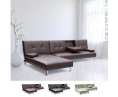 Canapé-lit à angle avec accoudoir et péninsule 3 places COBALTO pou...