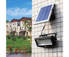 Projecteur solaire lampe jardin LED lumière mur extérieurs FLEXIBLE...