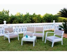 Salon de jardin en résine exterieur cafè bar table coussins dossier...