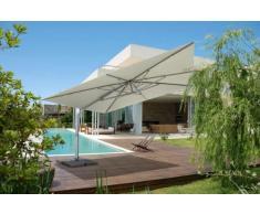 Parasol a mat déporté excentré de jardin 4x4 aluminium carré GIOVE