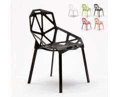 4 Chaises bar café cuisinee jardin Polypropylène design moderne HE...