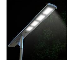 Lampadaire solaire réverbère LED rue route 4000 LUMEN