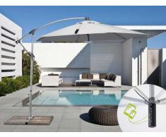 Parasol de jardin 3x3 bras avec usb chargeur de panneau solaire