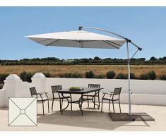 Parasol de jardin de 2,5 mètres bras décentralisé en aluminium carr...