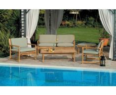 Salon d' extérieur en bambou BOMBAY canapé fauteuils table basse e...