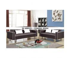 Set 2 canapés-lits 3 + 2 places en simili cuir pour salon et sejour...