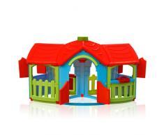 Maisonnette en plastique pour enfants jardin exterieurs GRAND VILLA