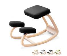 Chaise tabouret posturale ergonomique bureau bois SWING