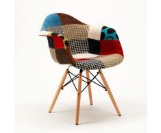 2 Chaises fauteuil daw PATCHWORK en bois idéal pour la maison bar c...