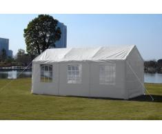 Pavillon 3x6 blanc gazebo tente imperméable fenetre carport couvert...