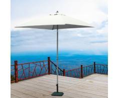 Parasol de jardin 2x2 aluminium carré pôle central bar hôtel PLUTONE