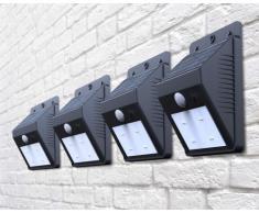 Appliques murales lampes à led solaires jardin extérieure ERIS 4 pcs