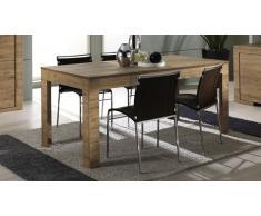 Table de salle à manger à rallonge en bois - Emiliano