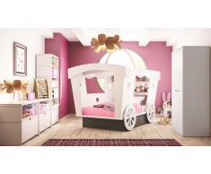 Lit roulotte enfant design en bois 120x190 cm - Roulotte