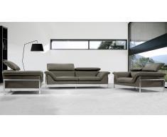 Salon cuir design canapé 3+2+1 collection -Shawn