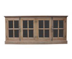 Buffet bois portes vitrées - Avignon