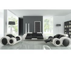 Salon design cuir relax -Pierce- canapé 3 places + 2 places + fauteuil