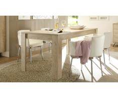 Table à diner rectangulaire en bois 180/228 cm - Nekho