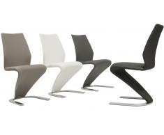 Chaise design Cadix au pied en acier chromé