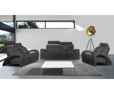 Salon en cuir avec canapé 3 places + 2 places + Fauteuil - Vratsa