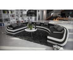 Tissera - Canapé d'angle panoramique en cuir